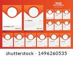 wall calendar 2020 elegant... | Shutterstock .eps vector #1496260535
