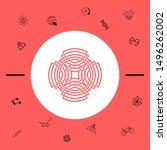 geometric arabic pattern. logo... | Shutterstock .eps vector #1496262002