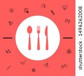 fork  spoon  knife icon.... | Shutterstock .eps vector #1496262008