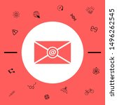 email symbol icon. graphic... | Shutterstock .eps vector #1496262545