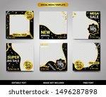 social media black and gold... | Shutterstock .eps vector #1496287898
