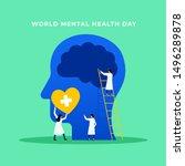 mental health medical treatment ... | Shutterstock .eps vector #1496289878