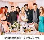 group people at wedding table... | Shutterstock . vector #149629796