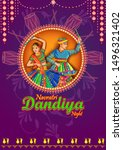 vector design of indian couple...   Shutterstock .eps vector #1496321402