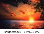 Stock photo sunset on the ocean abstract environmental backgrounds 149633192