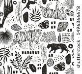 tropical seamless pattern....   Shutterstock .eps vector #1496366678