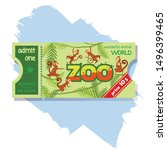 admission zoo ticket admit one... | Shutterstock .eps vector #1496399465
