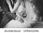 couple holding hands  | Shutterstock . vector #149641046