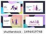 volunteering charity  trash... | Shutterstock .eps vector #1496419748