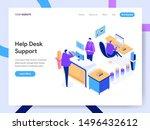 landing page template of help... | Shutterstock .eps vector #1496432612