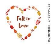 Vector Autumn Leaves Heart...