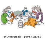 group of indonesian women...   Shutterstock .eps vector #1496468768