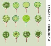 collection of trees  isolated... | Shutterstock .eps vector #149649896