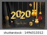 happy new year 2020   new year... | Shutterstock .eps vector #1496513312