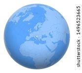 croatia on the globe. earth...   Shutterstock .eps vector #1496523665