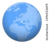 bulgaria on the globe. earth...   Shutterstock .eps vector #1496523695