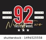 typography slogan 92 my model... | Shutterstock .eps vector #1496525558