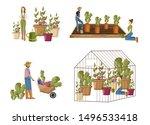 gardeners set collection vector ... | Shutterstock .eps vector #1496533418
