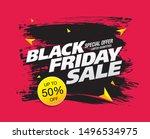 black friday sale banner layout ... | Shutterstock .eps vector #1496534975