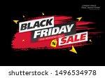 black friday sale banner layout ...   Shutterstock .eps vector #1496534978