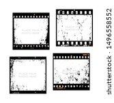set of 35mm filmstrips. film... | Shutterstock .eps vector #1496558552