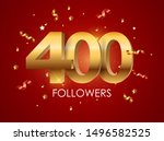 400 followers background... | Shutterstock . vector #1496582525