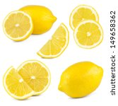 Lemons Isolated On White...