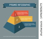 3d pyramid infographic template ... | Shutterstock .eps vector #1496585675