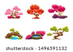 fantasy trees set  fairytale...