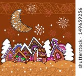 winter village. christmas. new... | Shutterstock .eps vector #149659256