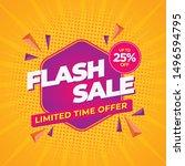 flash sale modern banner design ...   Shutterstock .eps vector #1496594795