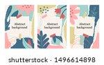 summer set of floral background ...   Shutterstock .eps vector #1496614898