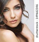 beauty close up woman portrait. ... | Shutterstock . vector #149662346