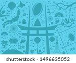 illustration for rugby japan... | Shutterstock .eps vector #1496635052