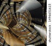 3d abstract vector seamless...   Shutterstock .eps vector #1496651615