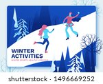 winter isometric people  girls...