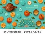 mid autumn festival design.... | Shutterstock .eps vector #1496672768