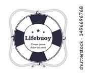 Round Nautical Logo  Lifebuoy...