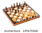 chess on a white background... | Shutterstock . vector #149670368