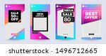 design template set of social... | Shutterstock .eps vector #1496712665