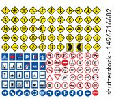 trafffic icon set most used for ... | Shutterstock .eps vector #1496716682