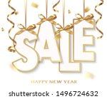 new year sale design template.... | Shutterstock .eps vector #1496724632