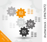 five orange full infographic... | Shutterstock .eps vector #149674472