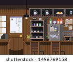 the old japanese cafe there are ... | Shutterstock . vector #1496769158