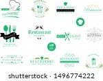 food and restaurant logo set  ...   Shutterstock .eps vector #1496774222