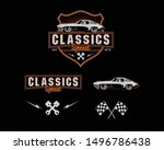 car set collection in classic... | Shutterstock .eps vector #1496786438