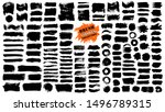 brush strokes. vector... | Shutterstock .eps vector #1496789315