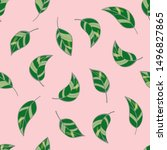 beautiful seamless pattern with ... | Shutterstock .eps vector #1496827865