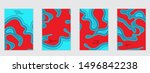 abstract flyer templates with...   Shutterstock .eps vector #1496842238