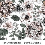 Seamless Floral Pattern. Fly...
